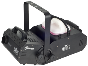- Very powerful smoke machine with 180° adjustable nozzle. Over 700 m³/minute!