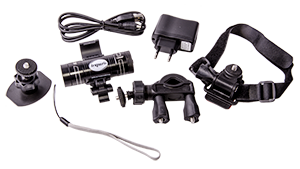 - As said before, in the package is all accessories and mountings, regardless is you want to mount it to your helmet, bicycle handlebar or gun barrel, everything is included for your convenience. You even get a external microphone and a HDMI cable in the package!