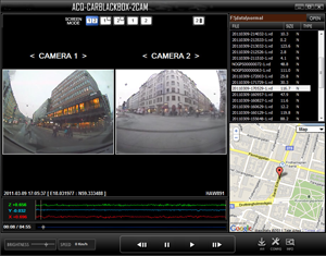 - The software on the included SD-card gives a clear view of what and where something happend