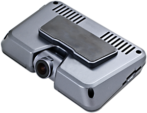 - ACQ-CARBLACKBOX-2CAM is mounted directly on the windshield via the supplied adhesive mounting bracket