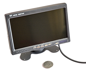 "- In our series of car cameras, we also offer this 7"" monitor. High resolution and good light output make it work in cars, buses or any other vehicle. Dual inputs."