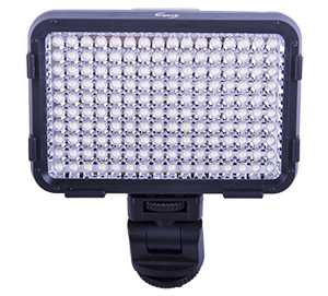 - The little brother to ACQ-VIDLED588CCW. A powerful LED-light to be mounted on top of the video camera or DSLR that have 160 daylight colored (approx. 5500 K) LED