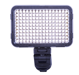 - The little brother to ACQ-VIDLED588CCW. A powerful LED-light to be mounted on top of the video camera or DSLR were half (80) of the LEDs is of so called daylight colored (approx. 5500 K) and the other 80 is so called warm white (approx. 3200K). Fully individually dimmable from 100% down to 10% with the two knobs on the top of the light. Incredible 3420 LUX at 1 meter make the light possible to use as a full replacement of both low energy dayslight bulbs as well as flashes. Holder for the three included filters make the light very versitile.