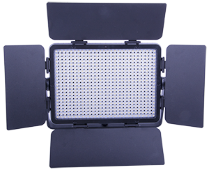 - A powerful studio light with LED-technology, including 588 daylight colored (approx. 5500 K) LED