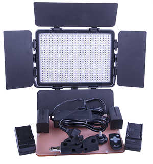 "- The package include a stand mount plus power adapter for operation on the power grid, dual 4Ah rechargable batteries for long operation ""off grid"", battery charger, dual filters (one soft filter and one warm filter (orange) and a remote control"