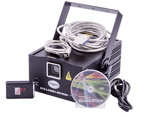 ACQURIS RGB Laser Kit - A Powerful kit with our 1.5W RGB laser together with Pangolin QuickShow.