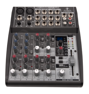 PA Kit - QSC K10 Small Normal & Behringer Xenyx1002FX - And a picture of the mixer