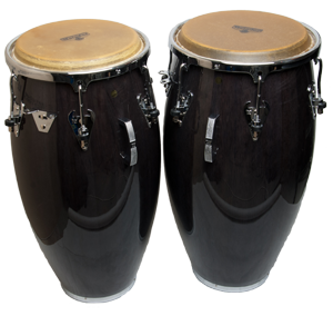 Matador Black Wood Chrome Conga set