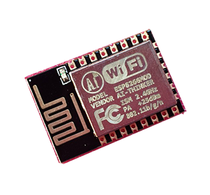- In our new series with wireless transceiver, we have here a combined Wifi-module and RISC-processor from AI-THINKER that is built on there ESP8266MOD SoC (System-On-Chip), also called ESP-12E The module have 16 GPIO however some are by the SPI/I2C serial connector for programming. The built-in TCP/IP stack alllow all microcontrollers to connect to a wireless network with WEP/WPA/WPA2 (or open) encryption. Since the module have a 32-bit RISC processor that work in 80MHz and a 10-bit AD-converter inside, it can also be used by its own.