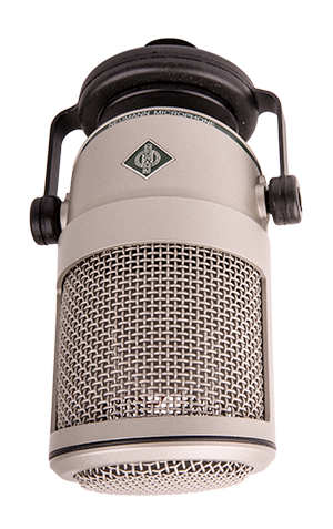 - A really good studio microphone, mainly aimed for speech and also Neumann