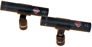 - One of the markets best known brands, Neumann. This stereo set contains a matched pair of KM 184 condenser microphones with a cardioid characteristic. This stereo pair is well suited for choirs, OH microphones to drum set and stereo recordings of orchestras.
