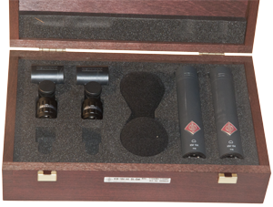 - The microphones is delivered in a high quality wooden box to emphasize their quality