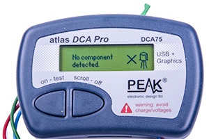 - As a difference to its predecessor, DCA75 have a graphical display that will show both component type as well as configuration