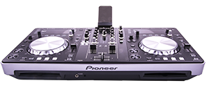 ACQURIS Pioneer XDJ-R1 DJ-kit - CD-spelarna synliga