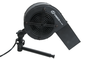 Visico FN-1010 Wind Machine - FN-1010 mounted on a standard stand mount